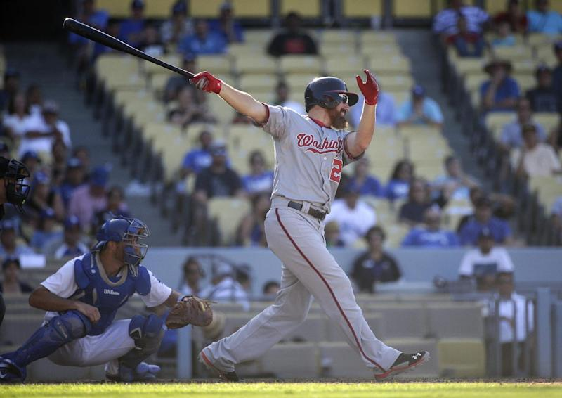 LaRoche delivers late, Nats top Dodgers 8-5 in 14