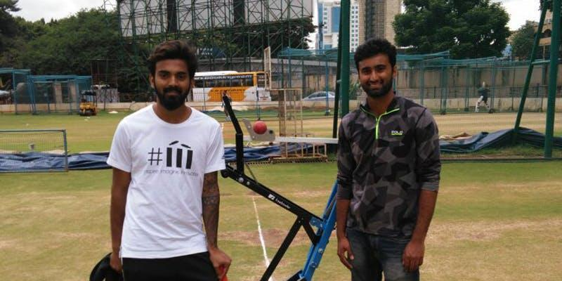 Pratheek with his cousin, KL Rahul