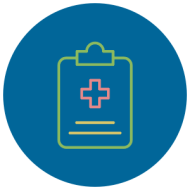 clipboard with medical cross