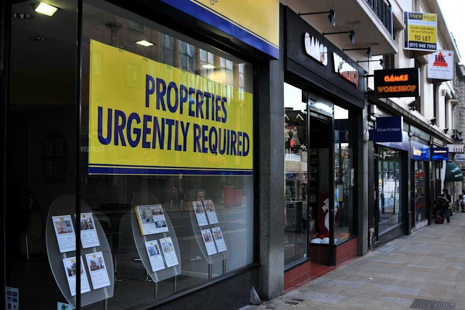 An estate agent's window (PA Archive)