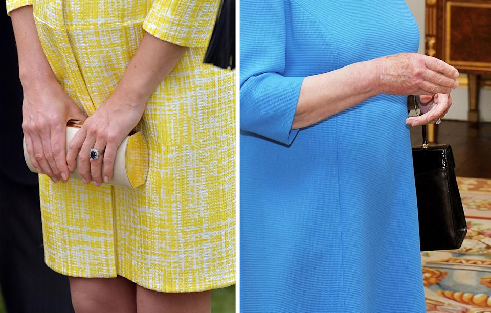 Both the Duchess of Cambridge and the Queen are always seen with neutral-coloured nails [Photo: PA]
