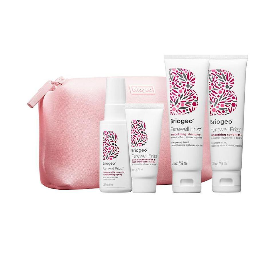 """<p><strong>Briogeo</strong></p><p>sephora.com</p><p><strong>$25.00</strong></p><p><a href=""""https://go.redirectingat.com?id=74968X1596630&url=https%3A%2F%2Fwww.sephora.com%2Fproduct%2Frosarco-repair-on-the-go-travel-kit-P422369&sref=https%3A%2F%2Fwww.elle.com%2Ffashion%2Fshopping%2Fg36831494%2Ftravel-gift-ideas%2F"""" rel=""""nofollow noopener"""" target=""""_blank"""" data-ylk=""""slk:Shop Now"""" class=""""link rapid-noclick-resp"""">Shop Now</a></p><p>Shifting humidities can cause a hair nightmare. Give them this to fight the frizz. </p>"""