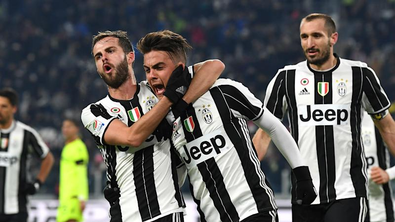Juventus 3 Atalanta 2: Holders on course for third straight Coppa title