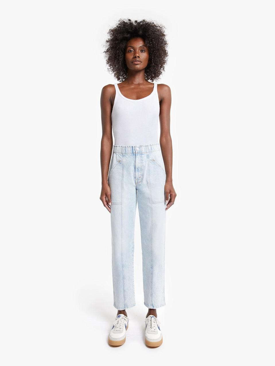 """<p>""""By far the most comfortable pants you'll ever try on are these <span>Mother Denim The Springy Ankle</span> ($248). They're somewhere between jeans and a sweatpant. I'll pair them with a ribbed tee and oversize cardigan for the days when I want to get dressed, but have a relaxed fit."""" - Dana Avidan Cohn, POPSUGAR executive style director</p>"""