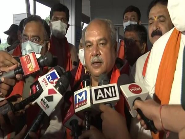 Union Minister of Agriculture and Farmers Welfare Narendra Singh Tomar (Photo/ANI)