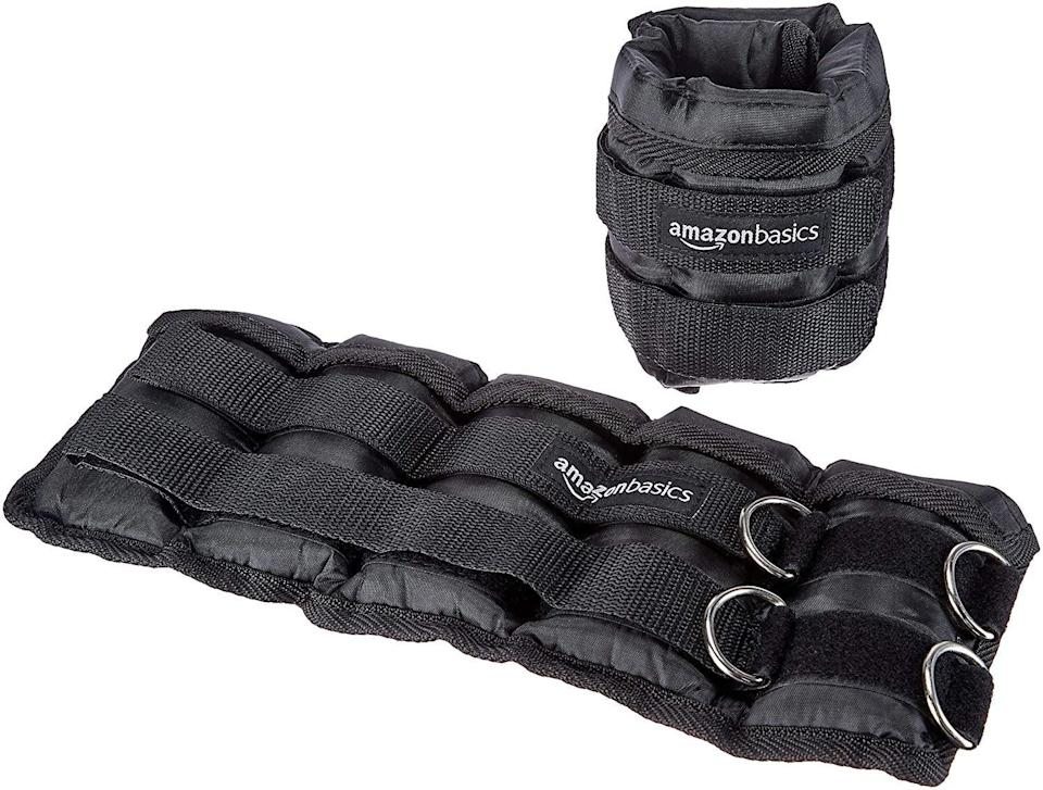 <p>These <span>AmazonBasics Adjustable Ankle Weights</span> ($20) will make your leg lifts all the more impactful.</p>