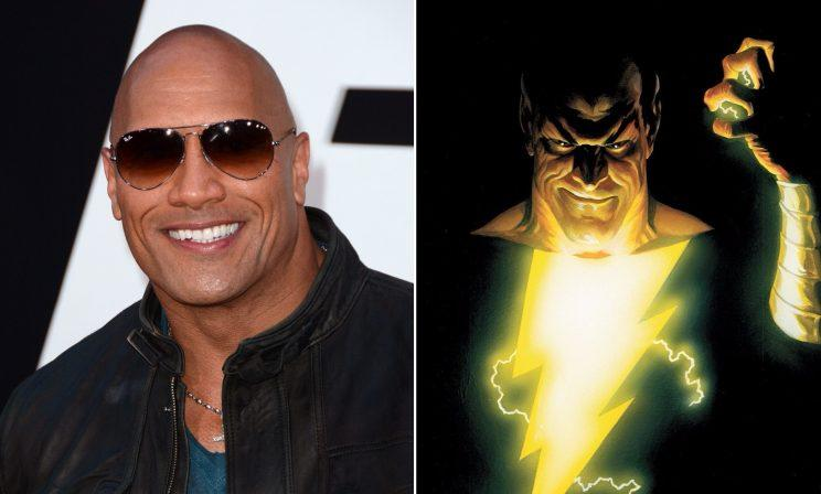 Dwayne 'The Rock' Johnson, set to join the DCEU as Shazam! anti-hero Black Adam (credit: WENN, DC Comics)