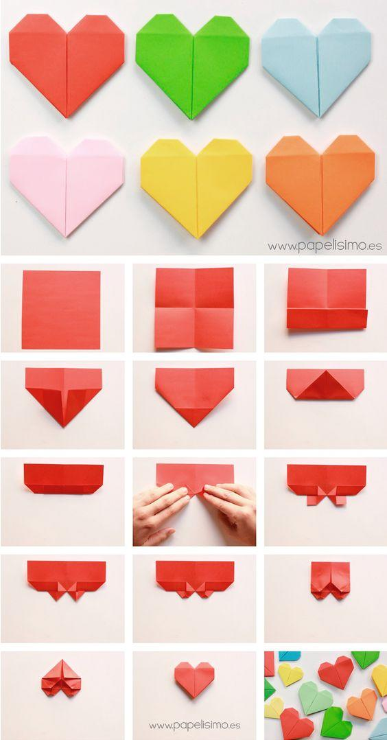 how to fold heart