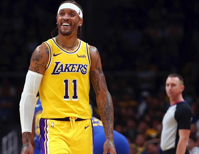 This is the knucklehead we envisioned when Michael Beasley signed with the Lakers. (Getty)