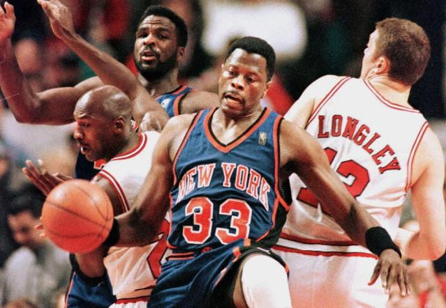 """Patrick Ewing talked about losing his gold medals and how he's dealing with painful memories of """"The Last Dance."""" (Vincent Laforet/AFP via Getty Images)"""