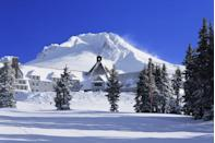 "<p>Timberline Lodge is perched on the south side of Mt. Hood, with the peak looming in the background. Some might recognize its exterior, which was used as a location for the Overlook Hotel in <em>The Shining</em>, but today, it's a popular destination for skiers.<br></p><p><strong>EXPLORE NOW:</strong> <a href=""https://www.tripadvisor.com/Hotel_Review-g52100-d114264-Reviews-Timberline_Lodge-Timberline_Lodge_Clackamas_County_Oregon.html"" rel=""nofollow noopener"" target=""_blank"" data-ylk=""slk:Timberline Lodge"" class=""link rapid-noclick-resp"">Timberline Lodge</a></p><p><a href=""https://www.flickr.com/photos/mt_hood_territory/8409305012/"" rel=""nofollow noopener"" target=""_blank"" data-ylk=""slk:MT. HOOD TERRITORY"" class=""link rapid-noclick-resp"">MT. HOOD TERRITORY</a>/Flickr</p>"
