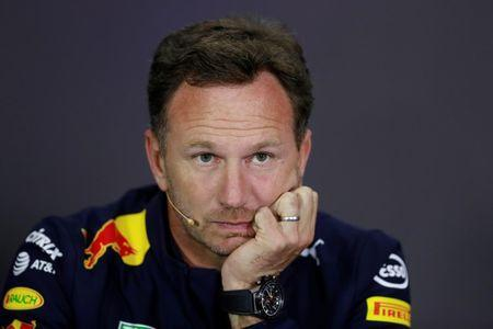 F1 - Formula One - British Grand Prix 2017 - Silverstone, Britain - July 14, 2017 Red Bull Team Principal Christian Horner during the press conference REUTERS/Jason Cairnduff