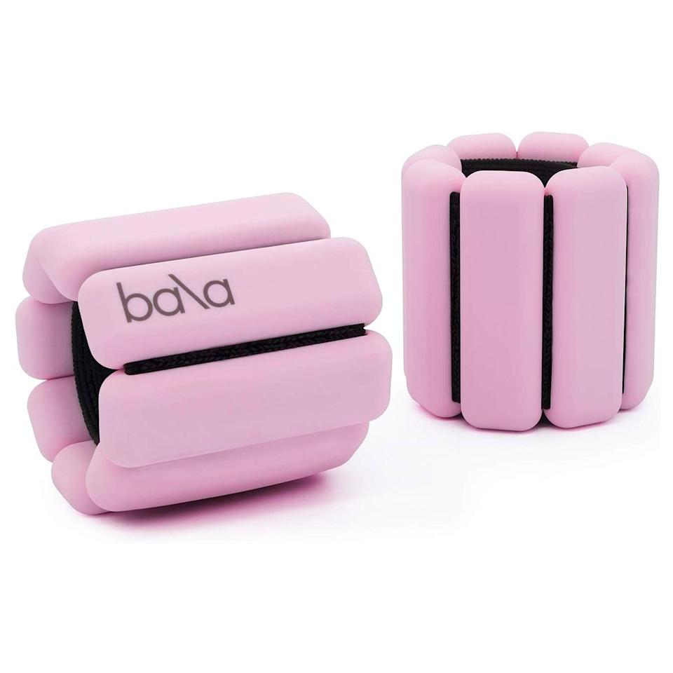 """Adjustable wrist and ankle weights that are pretty enough to make burpees and planks a <em>little</em> <em>less</em> dreadful. These weigh a pound each and are one size fits all. Add them to any kind of exercise (yoga, running, Pilates, and walking included). $49, Amazon. <a href=""""https://www.amazon.com/dp/B079GNMYTP/ref=twister_B07CKNHNQF?"""">Get it now!</a>"""