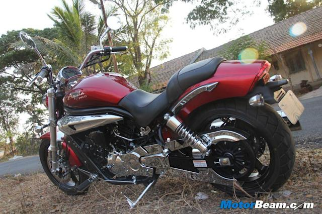 Ride quality is slightly on the stiffer side, even then the bike maintains its composure over really bad roads, without ruffling the rider when potholes are encountered.