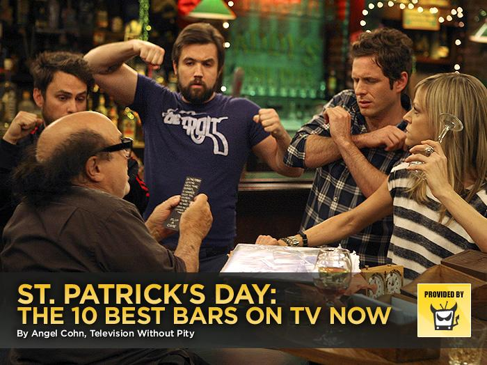 """While most of us (of legal drinking age) will gravitate towards our local Irish pubs this weekend to celebrate St. Patrick's Day, we'd really prefer to be imbibing cocktails at some of our favorite television watering holes. While years ago, we may have wanted to go to the Boston bar where everybody knows your name, or would've liked to take in some sweet drinks while cruising with Isaac, there are plenty of newer establishments that are calling out to us these days. Man, there are a lot of lushes on TV.  <br><br>— <a target=""""_blank"""" href=""""http://www.televisionwithoutpity.com/?__source=tw%7Cyhtv&par=yhtv"""">Television Without Pity</a>"""