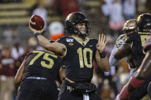 Wake Forest's Clawson eager to see offense grow up quickly