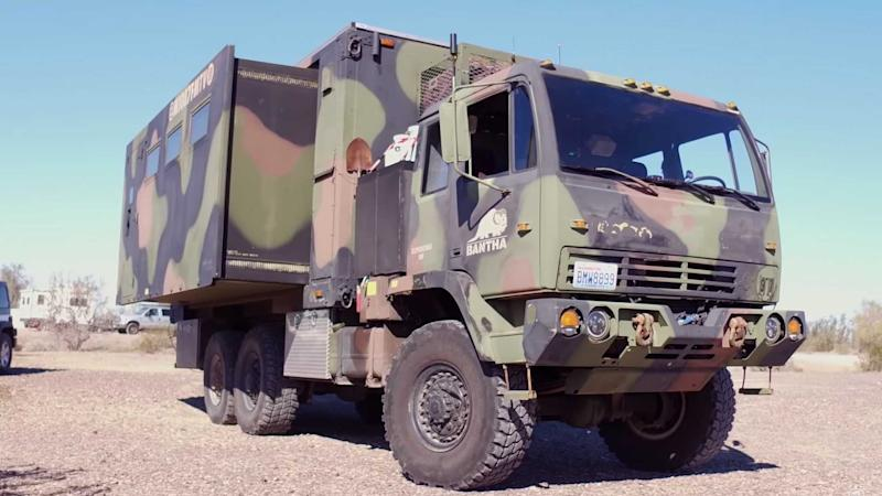 M1087 FMTV Military Truck Becomes Motorhome