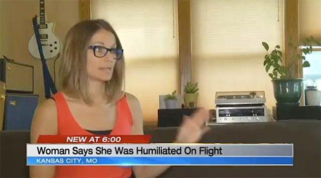 Nicole Harper says she was denied access to a bathroom on a United flight. (Photo: KCTV)