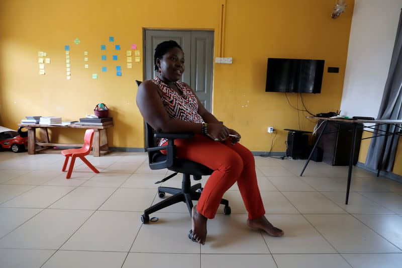 Anson-Yevu, entrepreneur, photographed at her home during an interview with Reuters in Accra,