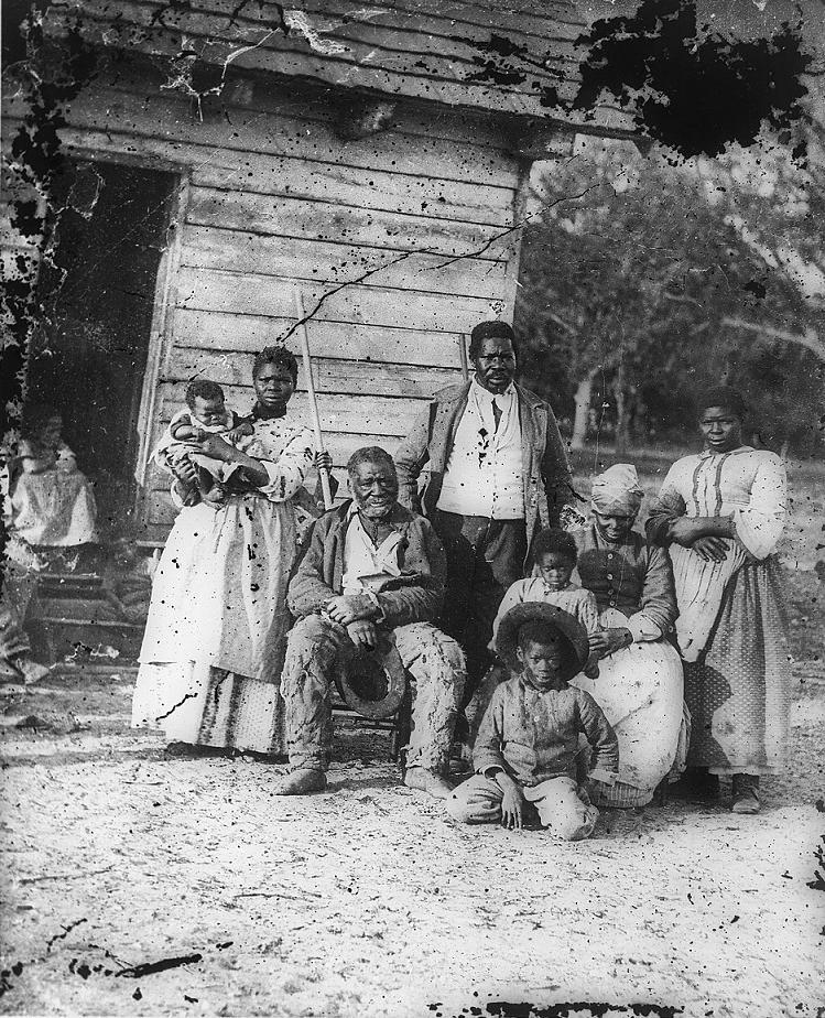 Five generations on Smith's Plantation, Beaufort, S.C., 1862. (Timothy H. O'Sullivan / Library of Congress)