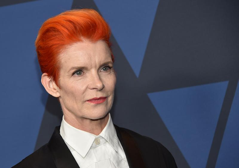 Costume Designer Sandy Powell arrives to attend the 11th Annual Governors Awards gala on October 27, 2019. (Photo by Chris Delmas / AFP)