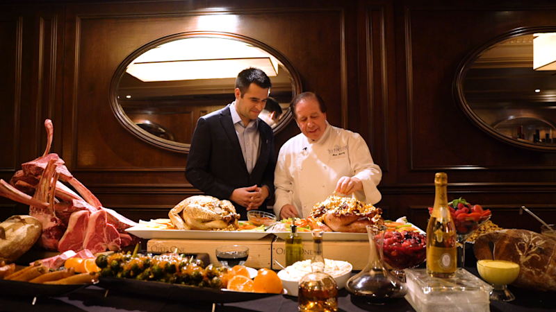 Old Homestead co-owner Marc Sherry explains to Yahoo Finance anchor Zack Guzman that the Thanksgiving dinner, which has set records for the last five years, is about more than just opulence.