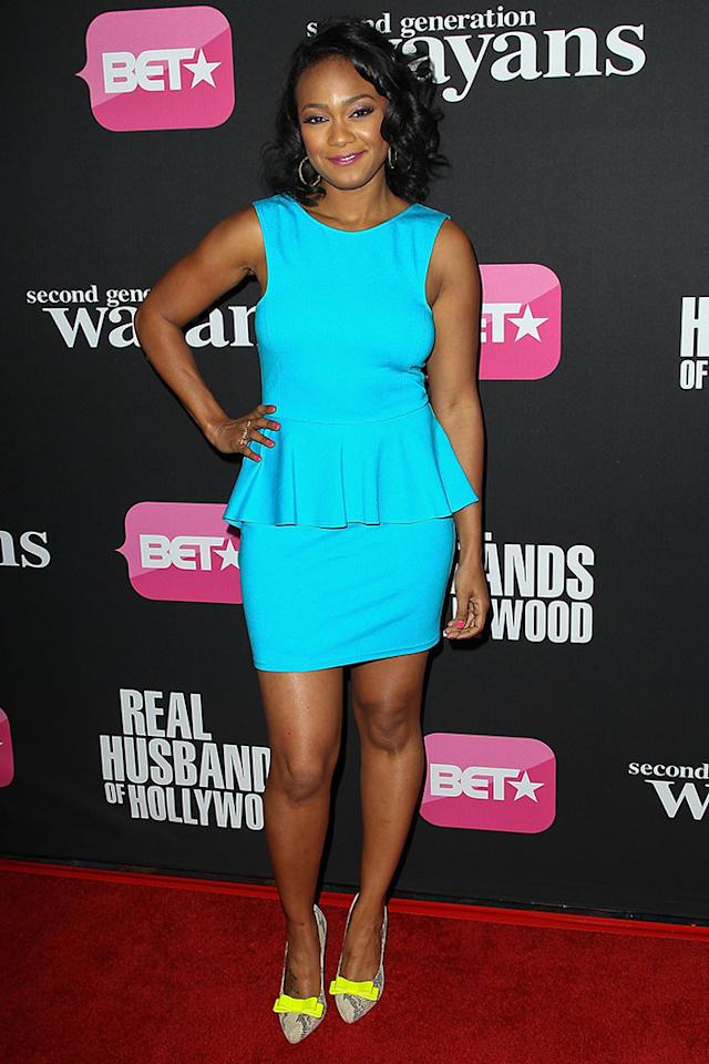 "Tatyana Ali arrives at the screenings of BET Networks' ""Real Husbands of Hollywood"" and ""Second Generation Wayans"" held at the Regal Cinemas L.A. Live on January 8, 2013 in Los Angeles, California."