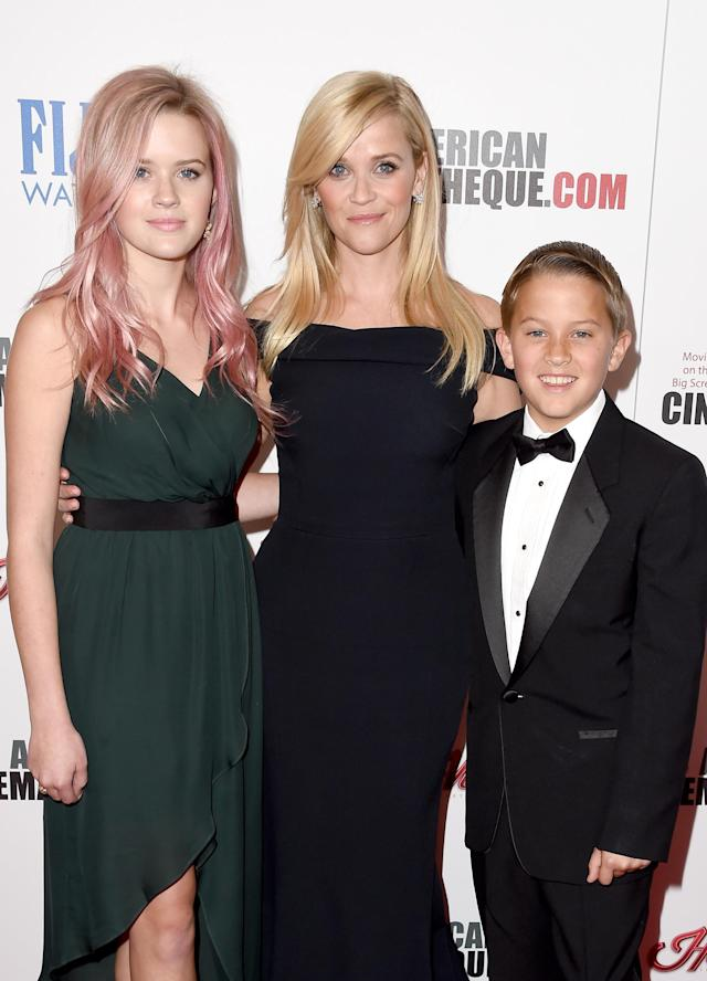 Honoree Reese Witherspoon with kids Ava and Deacon at the American Cinematheque Awards in 2015. (Photo: Steve Granitz/WireImage)