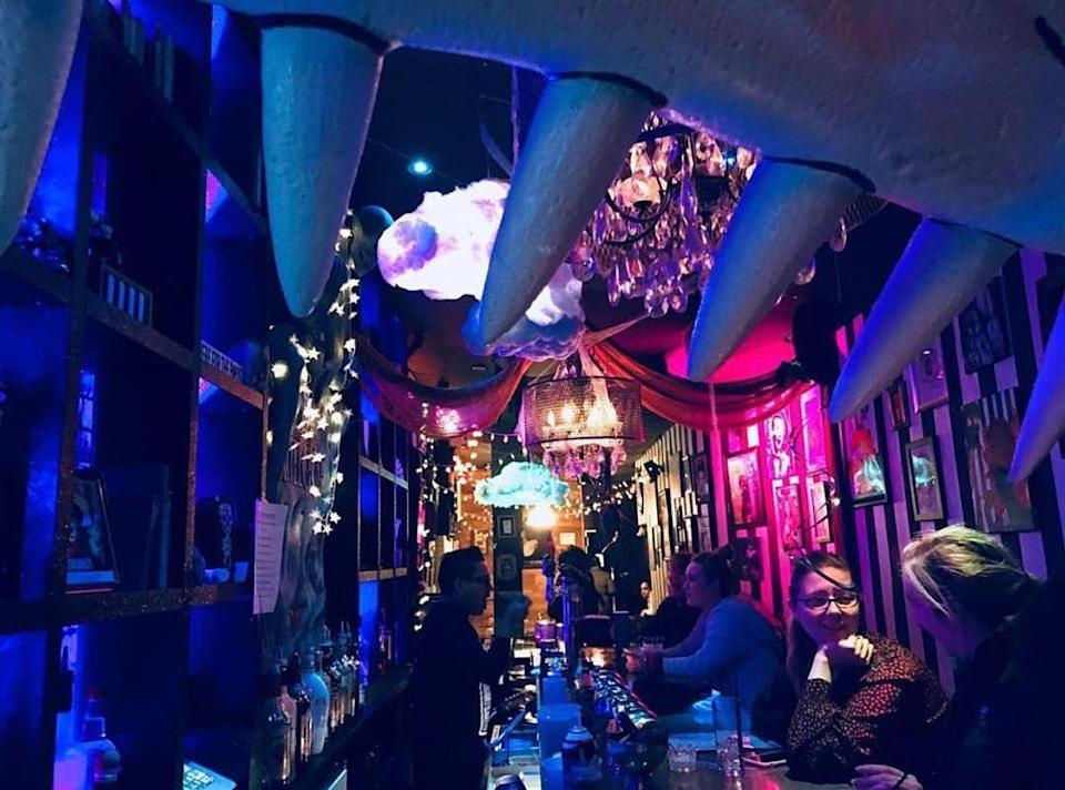 """<p><em>Locations in New York City and Los Angeles</em></p><p>Beetlejuice! Beetlejuice! Beetlejuice! Step inside the world of Tim Burton, where every day is Halloween. The <em>Beetlejuice</em>/<em>Nightmare Before Christmas</em> <a href=""""https://www.beetlehousenyc.com"""" rel=""""nofollow noopener"""" target=""""_blank"""" data-ylk=""""slk:hybrid-themed bar and restaurant"""" class=""""link rapid-noclick-resp"""">hybrid-themed bar and restaurant</a> has locations situated in NYC and LA, and both deliver a spooky good time. </p><p>Photo: Facebook/<a href=""""https://www.facebook.com/pg/Beetlehouse/photos/?ref=page_internal"""" rel=""""nofollow noopener"""" target=""""_blank"""" data-ylk=""""slk:BeetleHouse"""" class=""""link rapid-noclick-resp"""">BeetleHouse</a></p>"""