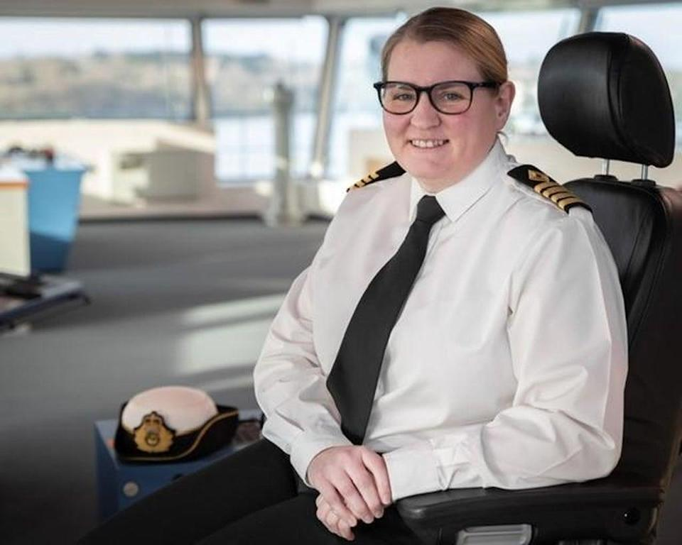 Captain Susan Cloggie-Holden was one of 16 recipients of the Merchant Navy Medal (Department for Transport/PA)