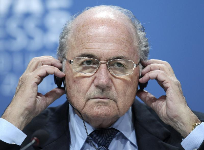 Swiss  FIFA President Joseph (Sepp) Blatter reacts during a press conference after the 61st FIFA Congress in Zurich, Switzerland, Wednesday, June 1, 2011. Stung by ongoing criticism of the system to choose World Cup hosts, Blatter stripped the executive committee of its power on Wednesday and gave every federation a vote on future decisions. He offered the concession at the FIFA Congress ahead of his re-election among a series of reforms to make world football's governing body more transparent.(AP Photo/Michael Probst)