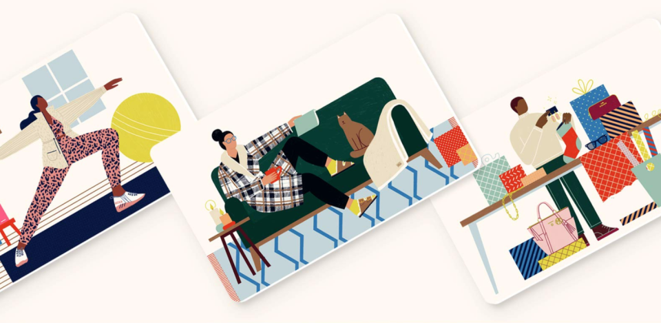 Choose from an array of cool gift cards. (Photo: Zappos)