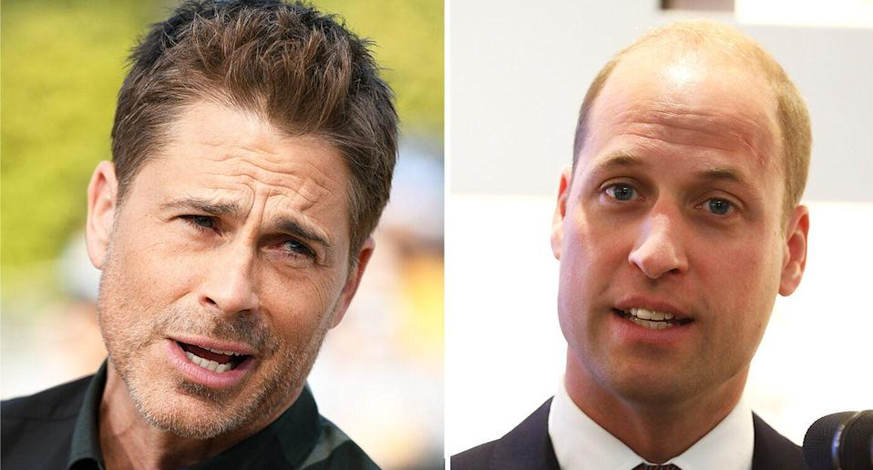 "Rob Lowe says British men like Prince William set a ""low bar"" for vanity. [Photo: Getty]"