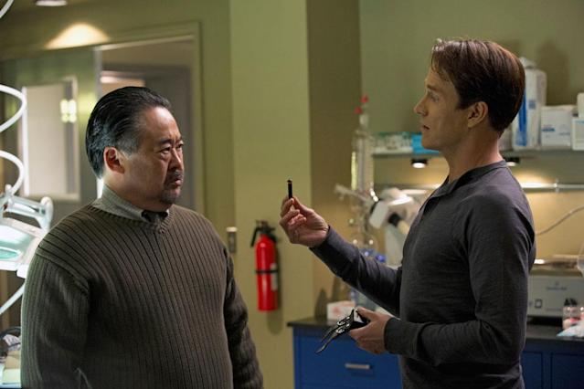 "Hiro Koda and Stephen Moyer in the ""True Blood"" episode, ""At Last."""