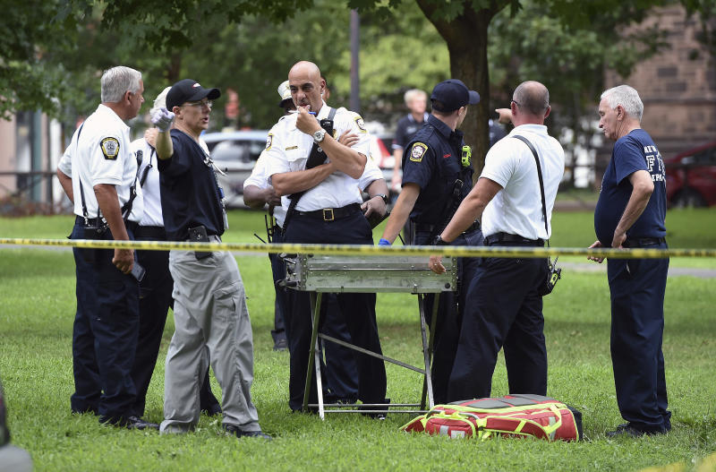 Arrest after dozens overdose in CT park