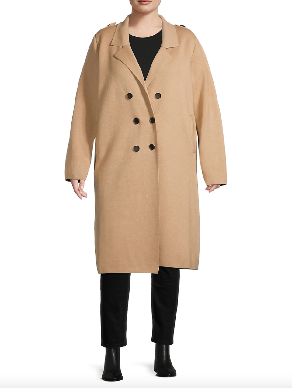 Molly Bracken Plus Double-Breasted Trench Coat (Photo via The Bay)
