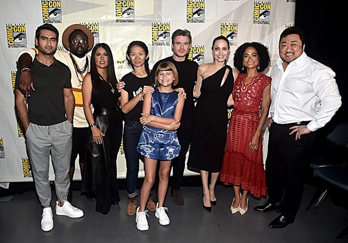 "The cast of ""Eternals."""