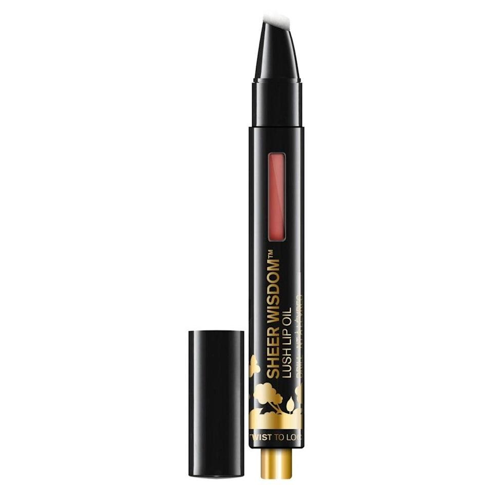 "<p>With a couple clicks of the button at the bottom of the Butter London Sheer Wisdom Lush Lip Oil, this surprisingly creamy formula delivers a hint of tint and way more than a hint of conditioning oils like that of Tahitian coconut, sunflower and chia seed.</p> <p><strong>$22 (</strong><a href=""https://shop-links.co/1705757593849518360"" rel=""nofollow noopener"" target=""_blank"" data-ylk=""slk:Shop Now"" class=""link rapid-noclick-resp""><strong>Shop Now</strong></a><strong>)</strong></p>"