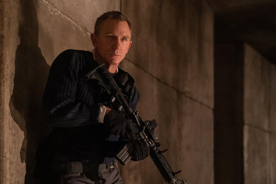 Daniel Craig as Ian Fleming's James Bond in 'No Time To Die'. (Credit: EON/Universal)