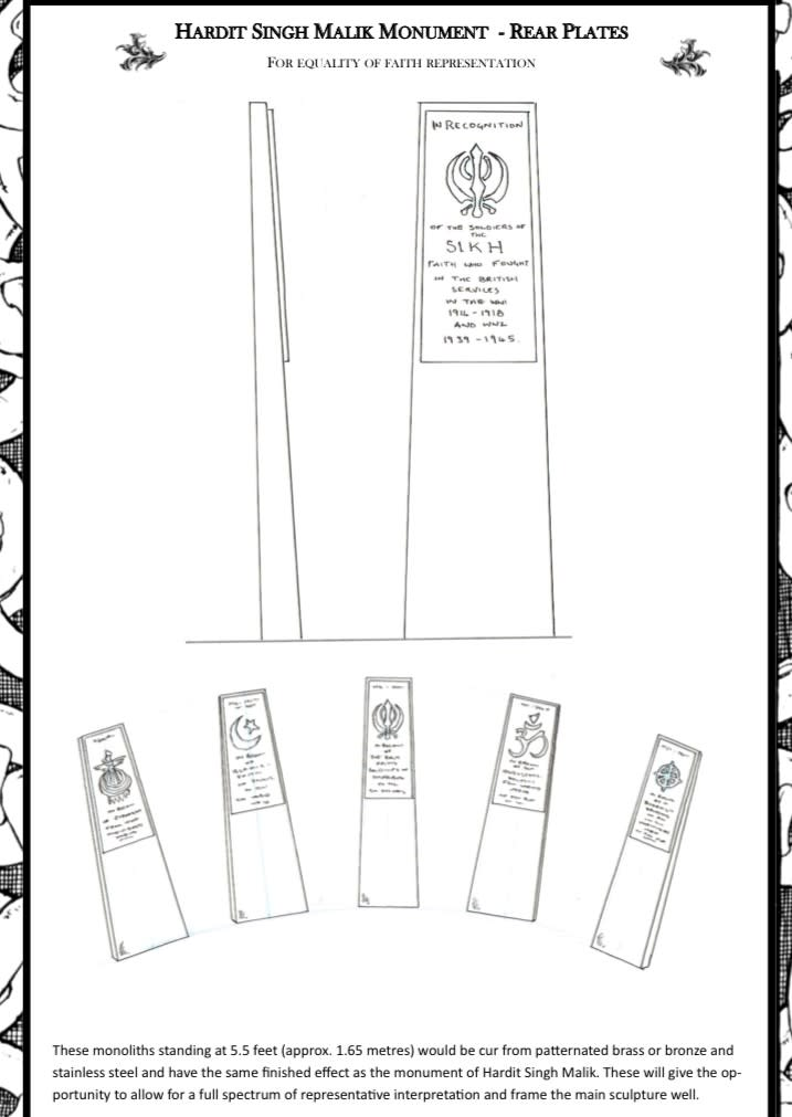 Plans for the memorial plates to be installed in Southampton in April 2023 (OCHD/PA)
