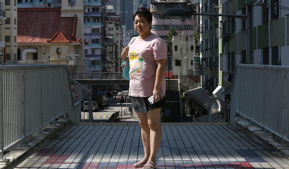 Tour guide Chau Ching's income has been reduced to zero since August. Photo: Jonathan Wong