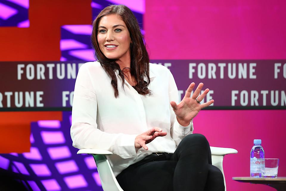 Hope Solo is one of four former U.S. national team players running for U.S. Soccer president. (Getty)