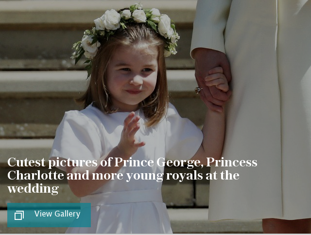 Cutest pictures of Prince George, Princess Charlotte and more young royals at the wedding