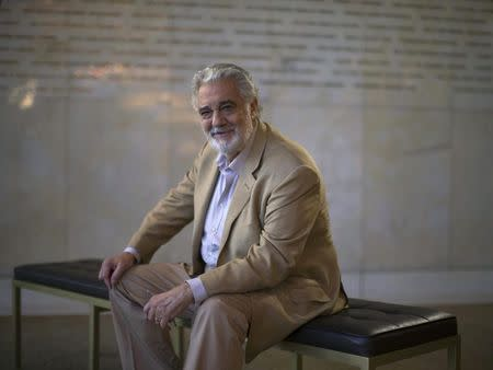 Placido Domingo poses for a portrait at the Dorothy Chandler Pavilion in Los Angeles