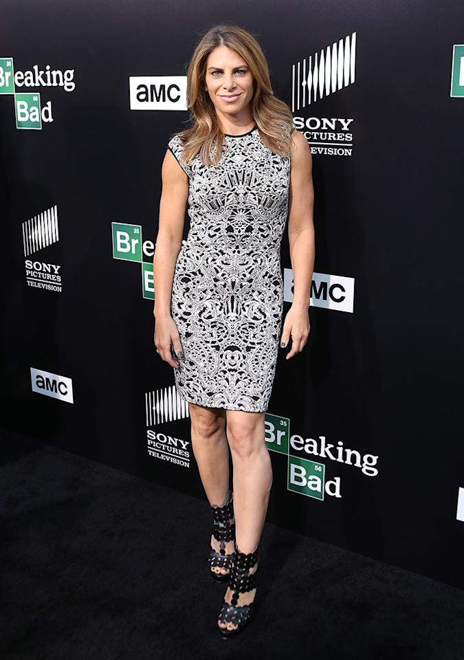 "Jillian Michaels arrives at AMC's ""Breaking Bad"" special premiere event held at Sony Pictures Studios on July 24, 2013 in Culver City, California."