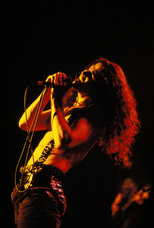 Chris Cornell on stage performing. <br>(Photo by Stuart Mostyn/Redferns)