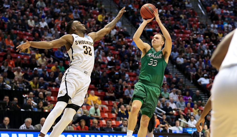 Marshall's Jon Elmore torched Wichita State for a team-high 27 points on only 13 shots on Friday. (Getty)