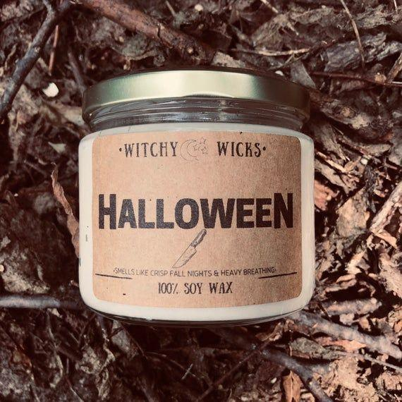 """<p><strong>WitchyWicksCandleCo</strong></p><p>etsy.com</p><p><strong>$16.00</strong></p><p><a href=""""https://go.redirectingat.com?id=74968X1596630&url=https%3A%2F%2Fwww.etsy.com%2Flisting%2F818232086%2Fhalloween-inspiried-100-soy-wax-candle&sref=https%3A%2F%2Fwww.bestproducts.com%2Fhome%2Fg33482993%2Ffun-halloween-candles%2F"""" rel=""""nofollow noopener"""" target=""""_blank"""" data-ylk=""""slk:Shop Now"""" class=""""link rapid-noclick-resp"""">Shop Now</a></p><p>This Halloween candle smells like a freshly baked apple pie ... that might be laced with something sinister. It has notes of red apple, mandarin, tonka bean, and cinnamon, and alarmingly, its white wax turns <em>blood red</em> as it burns.</p>"""