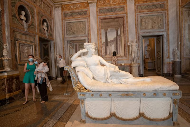 The marble version of the statue sits in the Galleria Borghese in Rome. (Photo: ASSOCIATED PRESS)