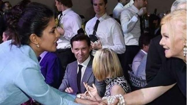 A picture of Priyanka Chopra and Hugh Jackman is doing the rounds on social media.